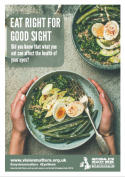 NEHW Eat right For Good Sight A3 Poster