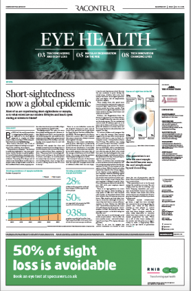 Front page of Sunday Times Eye Health Supplement