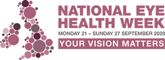 National Eye Health Week logo, 21 - 27 September 2020, Your Vision Matters